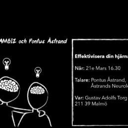 Effektivisera din hjärna på rätt sätt, inbjudan till Get Together by JAMBIZ.